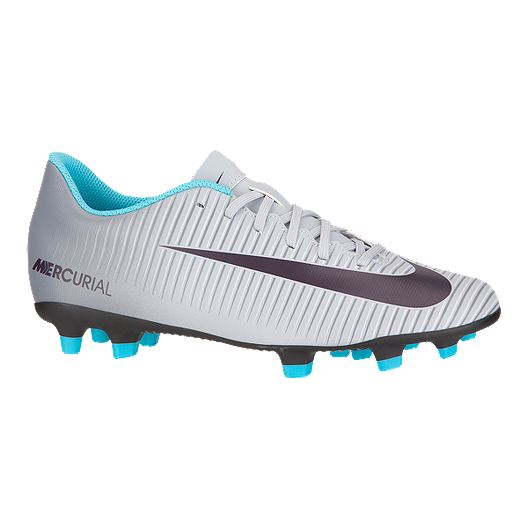 80995953dd7d Nike Women s Mercurial Vortex III Outdoor Soccer Cleats - Grey Blue Black