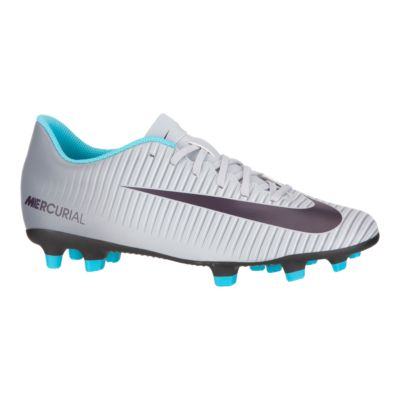 Nike Women\u0027s Mercurial Vortex III Outdoor Soccer Cleats - Grey/Blue/Black