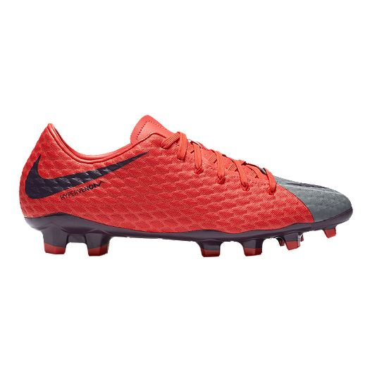 4d871662f90a Nike Women s HyperVenom Phelon III FG Outdoor Soccer Cleats - Grey Purple Orange