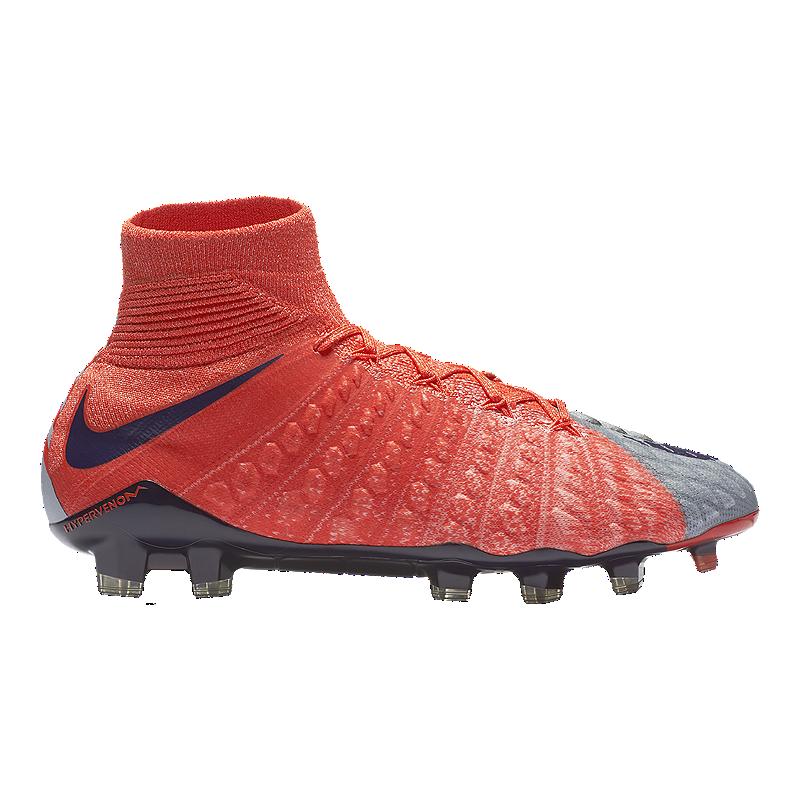 Nike Women s HyperVenom Phantom FG Outdoor Soccer Cleats -  Grey Purple Orange  70150b43c