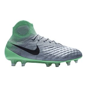 Nike Women s Magista Obra II FG Outdoor Soccer Cleats - Grey Teal Green b81f98ff6a1