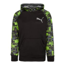 Puma Printed Colorblock Boys' Pull Over Hoodie