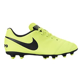 Nike Kids  Tiempo Rio III FG Outdoor Soccer Cleats - Volt Black c4f12d7103
