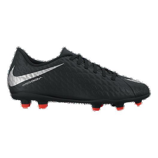 c6bfc7360f74 Nike Kids  HyperVenom Phade III FG Outdoor Soccer Cleats - Black Volt