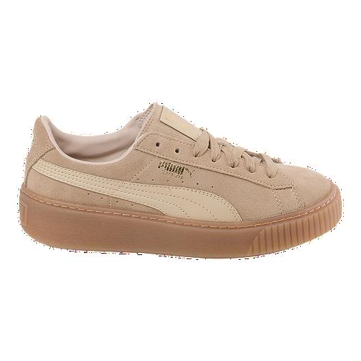 1feaa31902a PUMA Women s Suede Platform (Core) Shoes - Oat Gum