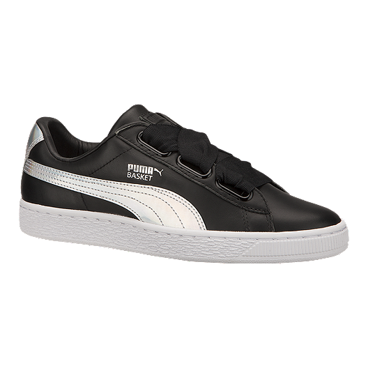 reputable site ce14f 6af35 PUMA Women's Basket Heart Shoes - Black/White | Sport Chek