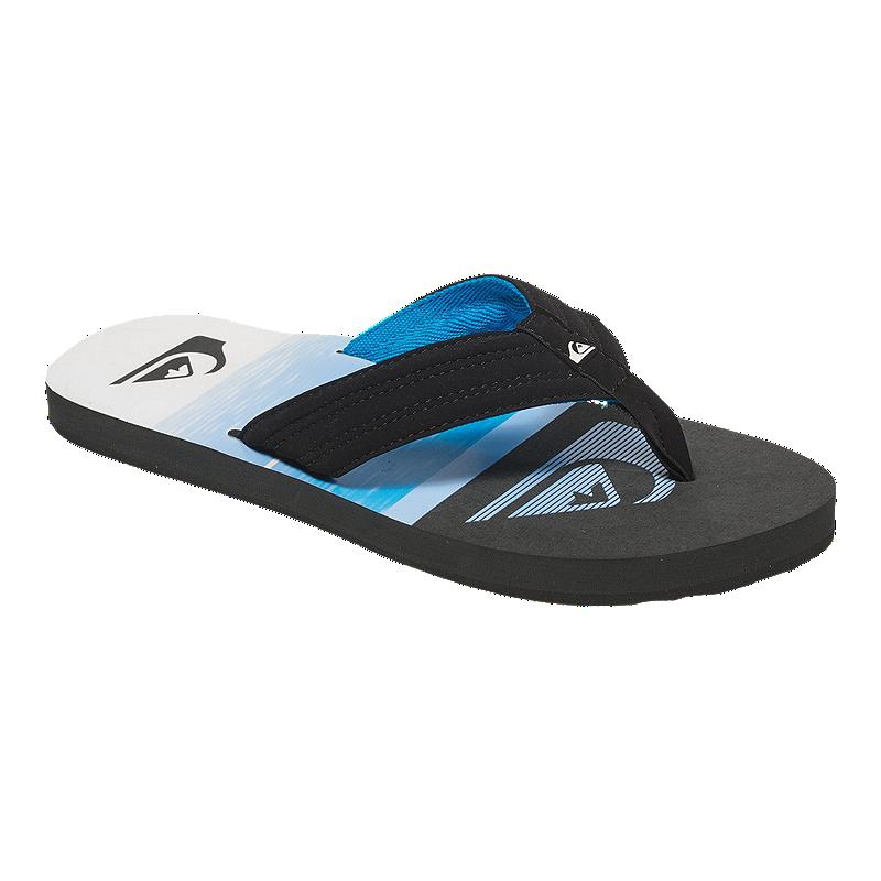 f5474f0babfe Quiksilver Men s Basis Sandals - Black Blue White