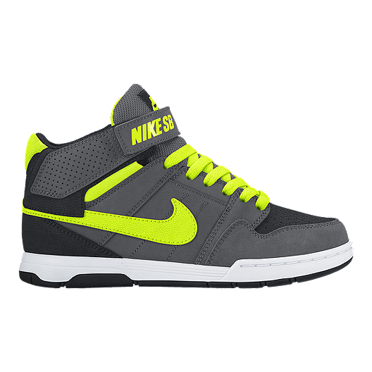 17d451711621 Nike Kids  SB Mogan Mid 2 JR Grade School Skate Shoes - Grey Volt White