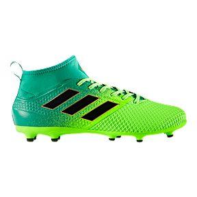 205f7a5d6ba adidas Men s Ace 17.3 PrimeMesh FG Outdoor Soccer Cleats - Green Black