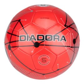 Diadora Sisma Size 4 Soccer Ball - Red/Black