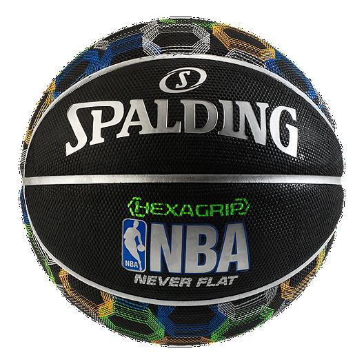 c9f3ba3adc0 Spalding Neverflat Hexagrip Soft Grip Basketball