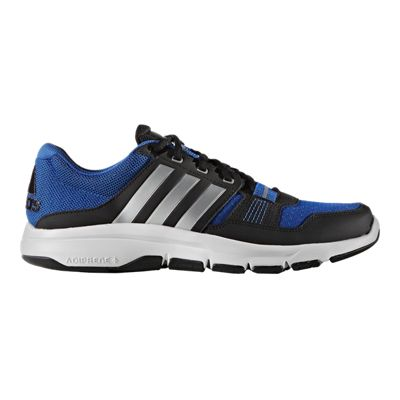 adidas Men's Gym Warrior 2 Training Shoes - Black/Blue/White