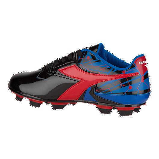 4f8f17a9 Diadora Kids' Nebula FG Outdoor Soccer Cleats - Black/Blue/Red