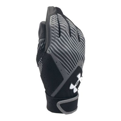 Under Armour Youth Cleanup Batting Glove - Black/Graphite
