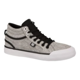 DC Women's Evan Hi TX SE Skate Shoes - Black/Charcoal