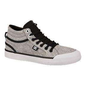 Dc Women S Evan Hi Tx Se Skate Shoes Black Charcoal