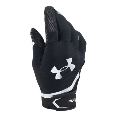 Under Armour Spotlight Chrome Batting Glove - Black/Silver