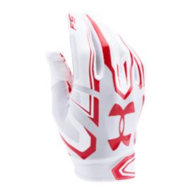 Under Armour F5 Football Glove - White/Red