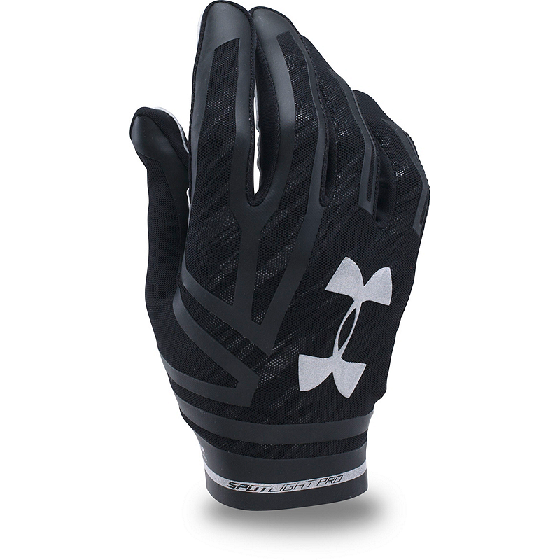 Head Multi Sport Gloves With Sensatec Black Large: Under Armour Spotlight Pro Football Gloves-Black