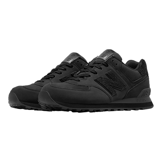buy online 2fcfe a5d0c New Balance Men's 574 Lux Shoes - Black | Sport Chek