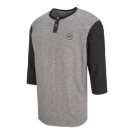 O'Neill Men's The Bay 3/4 Sleeve Henley T Shirt - Grey