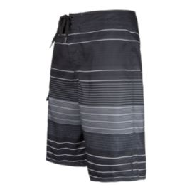 O'Neill Castaway Men's Boardshorts - Black/White Stripe