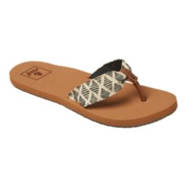 Reef Women's Mallory Scrunch Sandals - Black/White/Tan