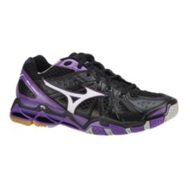 Mizuno Women's Wave Tornado 9 Indoor Court Shoes - Black/Purple
