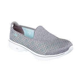 33aa78c2ff5b Skechers Women s GOwalk 4 (Kindle) Casual Shoes - Grey White