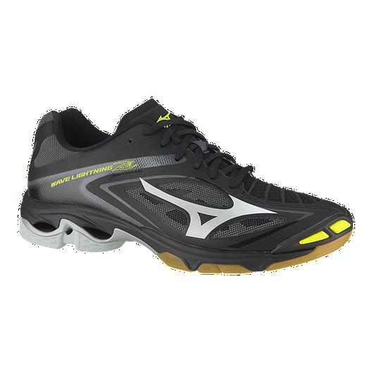 5c2f2d5183dfa Mizuno Men s Wave Lightning Z3 Indoor Court Shoes - Black Grey Yellow