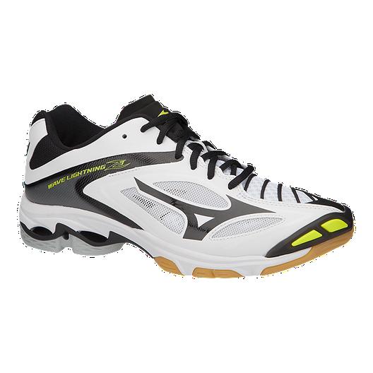 2a66bac83391 Mizuno Men s Wave Lightning Z3 Indoor Court Shoes - White Black ...