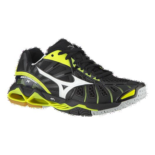 faa92f49b6ff Mizuno Women's Wave Tornado X Indoor Court Shoes - Black/Yellow | Sport Chek