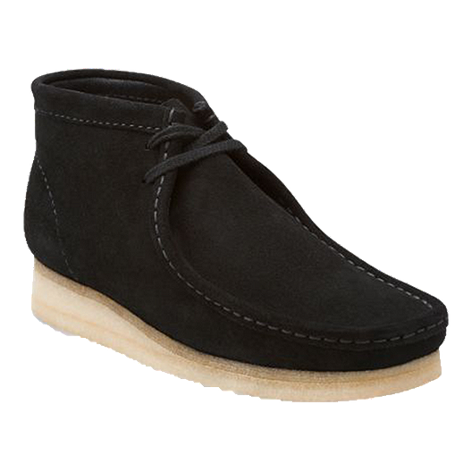 9b140194 Clarks Men's Wallabee (Suede) Casual Shoes - Black | Sport Chek