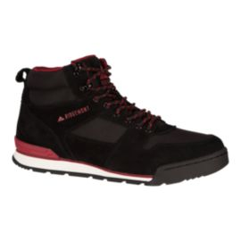 Ridgemont Men's Monty HI (Suede) Casual Boots - Black/Burgundy
