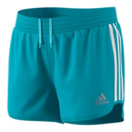 adidas Girls' Training 3 Stripes Marathon Shorts