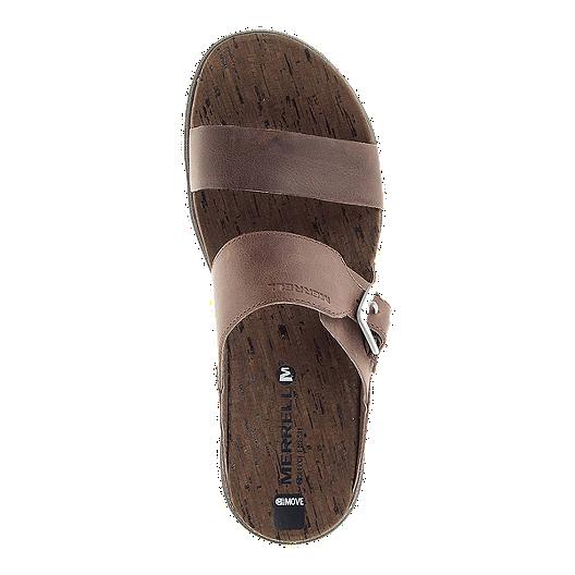 46a3094e35a7 Merrell Women s Around Town Buckle Slide Sandals - Brown