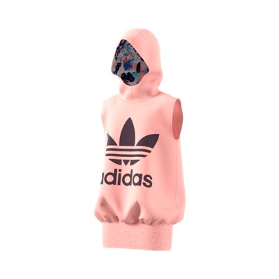 adidas Originals Girls' Trefoil Long Hoodie