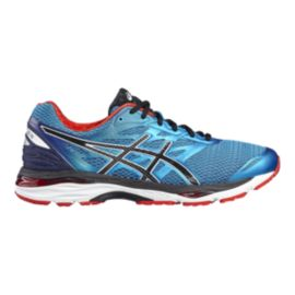 ASICS Men's Gel Cumulus 18 Running Shoes - Metallic Blue/Black/Red