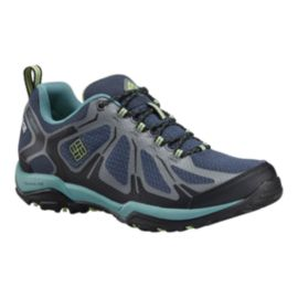 Columbia Women's PeakFreak XCRSN II Xcel Low OutDry Hiking Shoes - Grey/Green