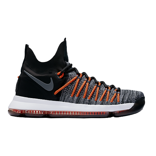 44dd967236131 Nike Men s KD 9 Elite Basketball Shoes - Black Grey Orange