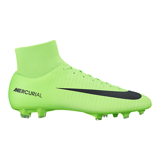 ad886a39e30a1 Nike Men's Mercurial Victory VI Dynamic Fit FG Outdoor Soccer Cleats - Lime  Green/Black | Sport Chek