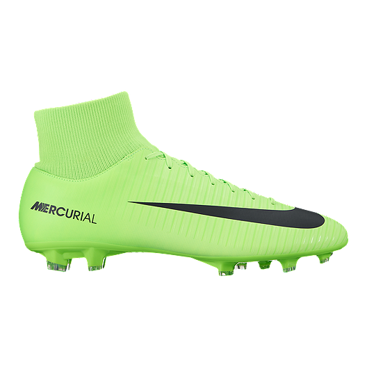 3f44bc0627a5 Nike Men s Mercurial Victory VI Dynamic Fit FG Outdoor Soccer Cleats - Lime  Green Black
