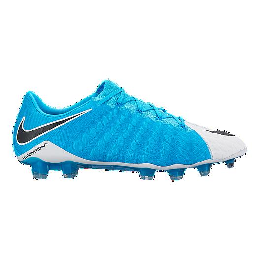 ab4f406d6 Nike Men s HyperVenom Phantom III FG Outdoor Soccer Cleats - Blue White