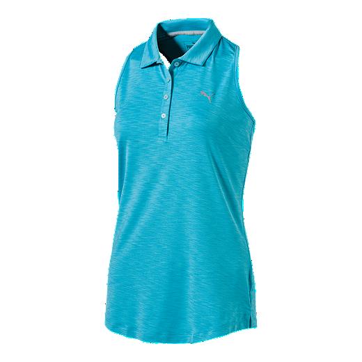 bdedebcccfef PUMA Golf Women s Racerback Polo - BLUE ATOLL