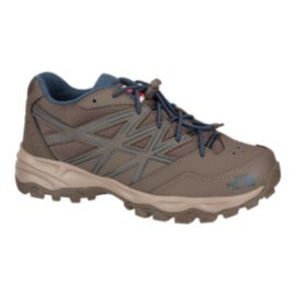 The North Face Kids' HedgeHog Hiker Hiking Shoes - Brown/Blue