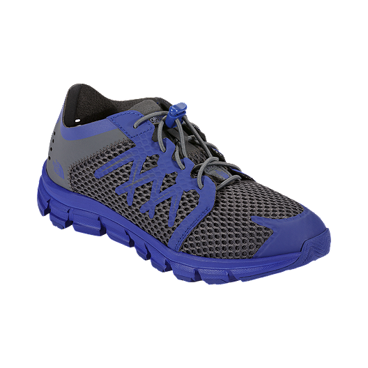 0971185433f The North Face Kids' LiteWave Flow Casual Shoes - Grey/Blue   Sport Chek