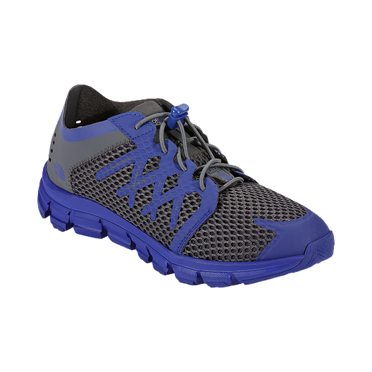 358ddbe4efa9 The North Face Kids  LiteWave Flow Preschool Casual Shoes - Grey Blue