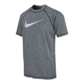 Nike Men's Solid Heather UPF Hydro Swim Shirt