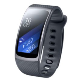 Samsung Gear Fit2 GPS with Heart Rate Monitor - Dark Grey Large