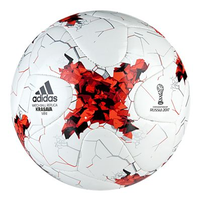 adidas Confederation Cup Mini Soccer Ball - White/Red